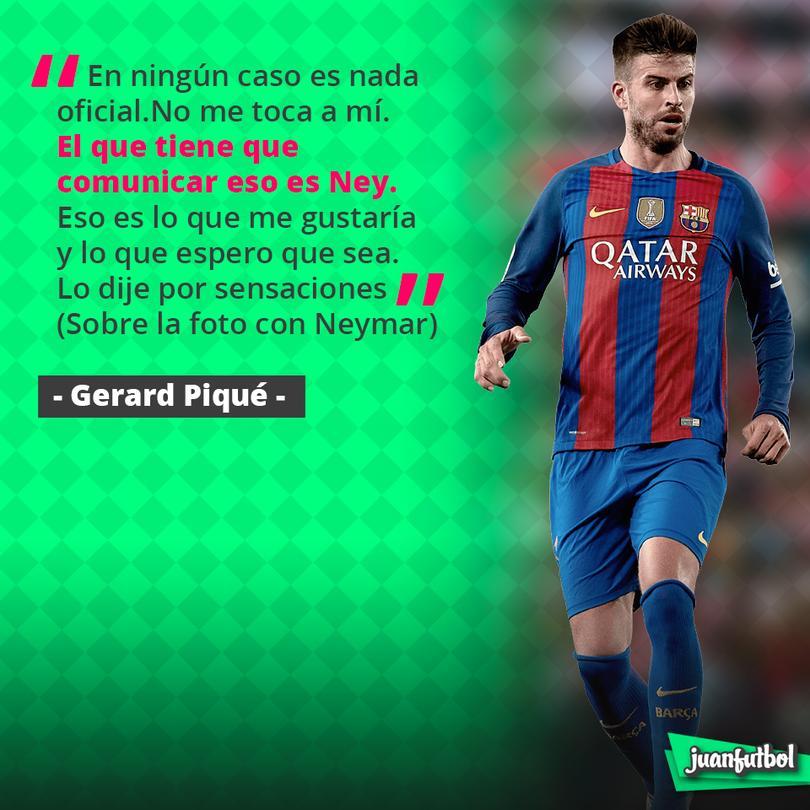 Piqué no dijo si Neymar se queda o se va
