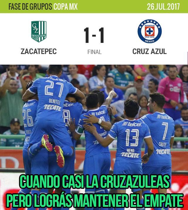 Cruz Azul empató con el Zacatepec