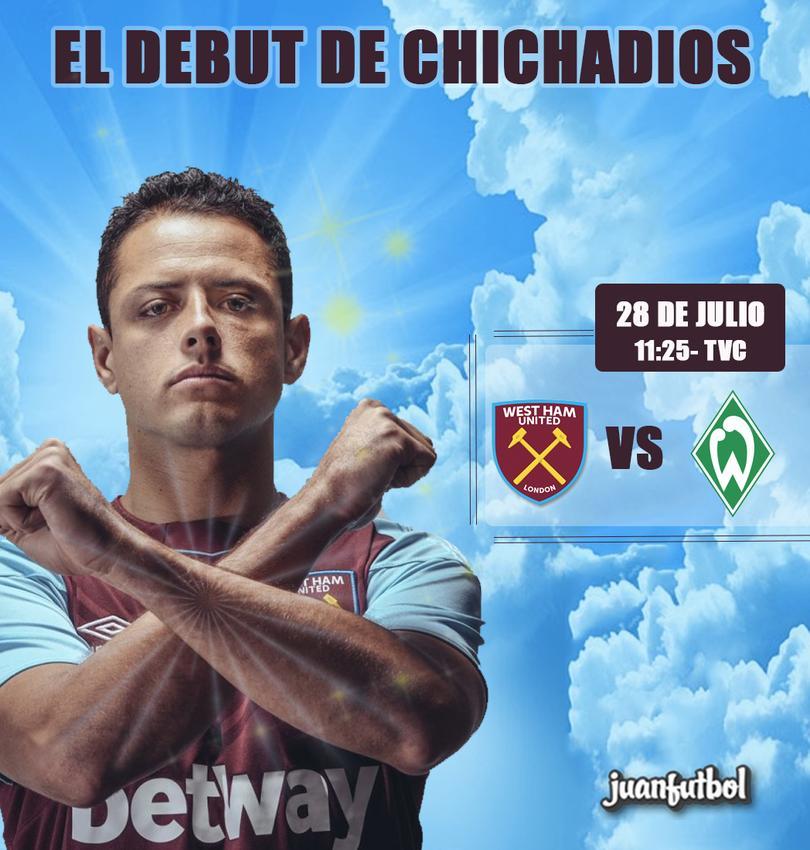 Chicharito debutará mañana con el West Ham.