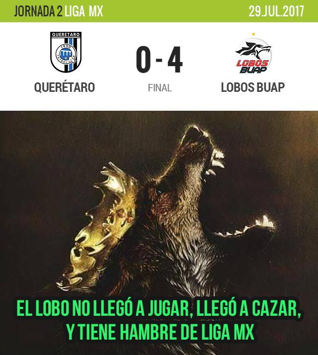 Lobos BUAP goleó a Querétaro