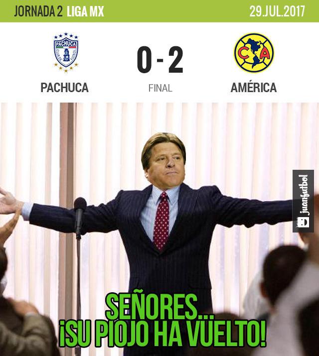 América venció 2-0 al Pachuca y ganó por vez primera en el torneo