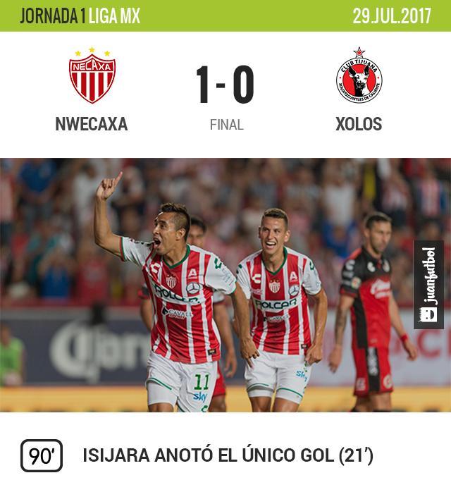 Necaxa gana su segundo partido de la temporada