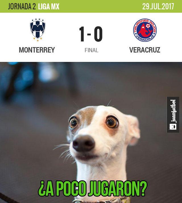 Rayados le pegó 1-0 al Veracruz