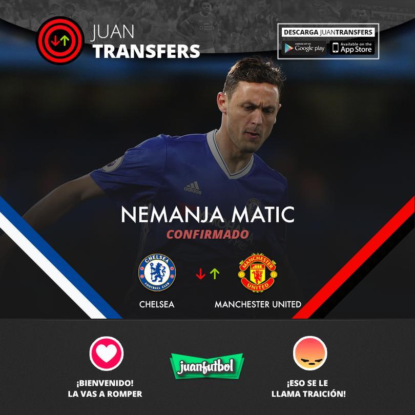 Matic deja al Chelsea por el Man United