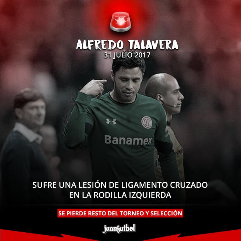 Talavera fuera por seis meses