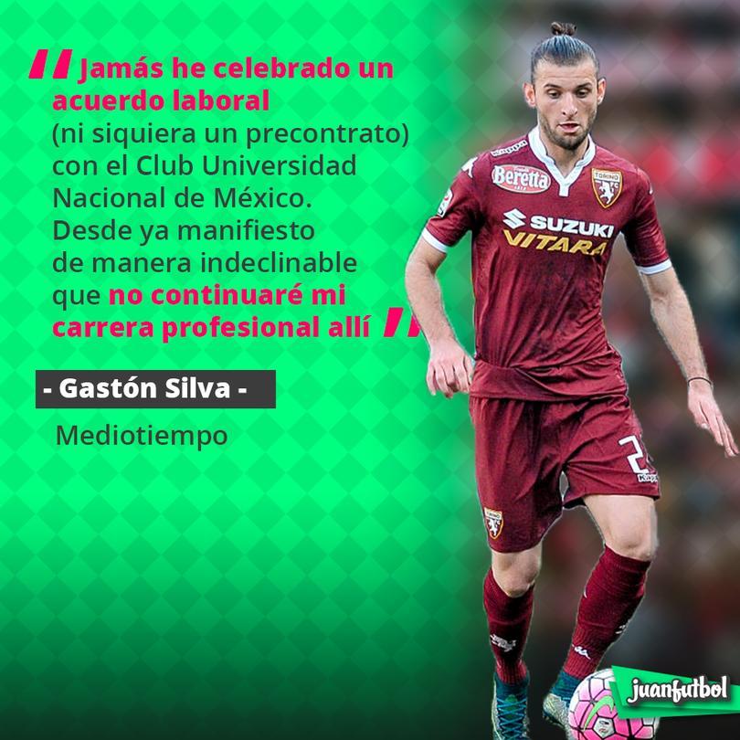 Gastón Silva manda comunicado, dejando claro que no llegará a Pumas