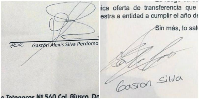 Firmas diferentes de Gastón Silva