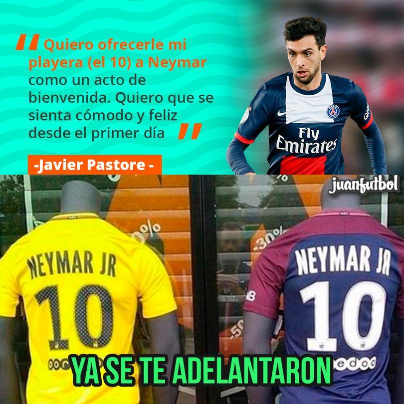 Pastore le ofrece el 10 a Neymar