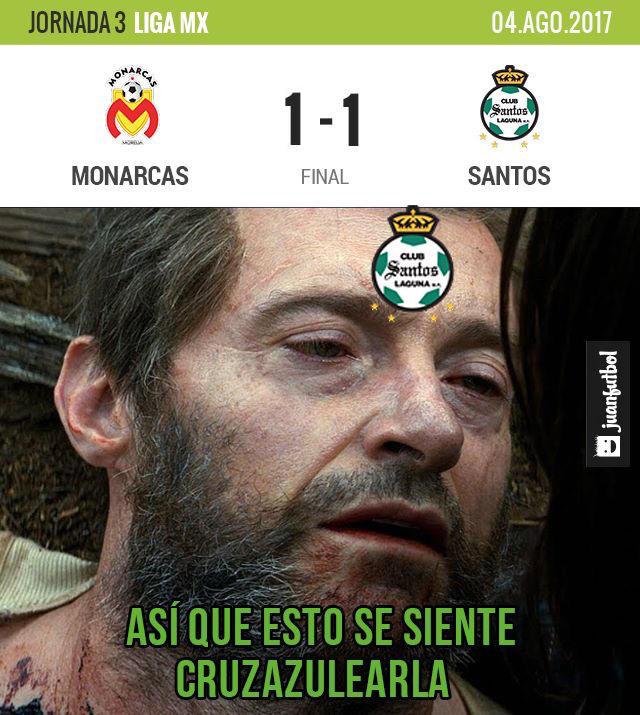 Monarcas 1-1 Santos