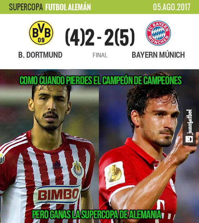 Bayern es el campeón de la Supercopa de Alemania