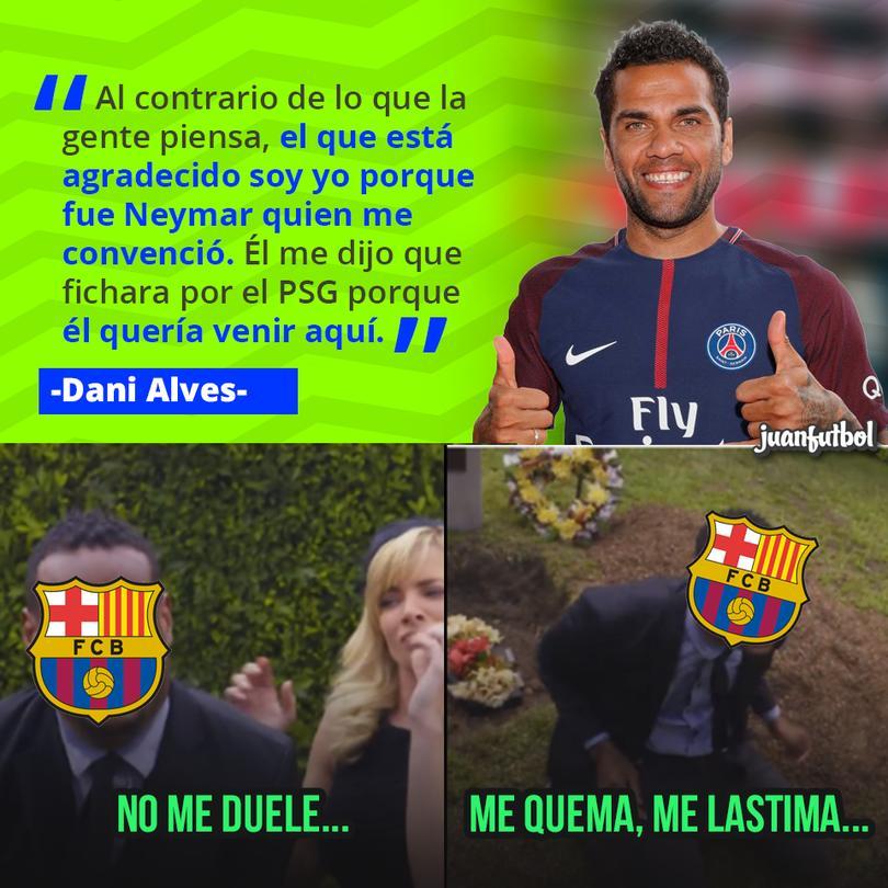 Dani Alves confiesa que Neymar decidió irse al PSG desde mucho antes