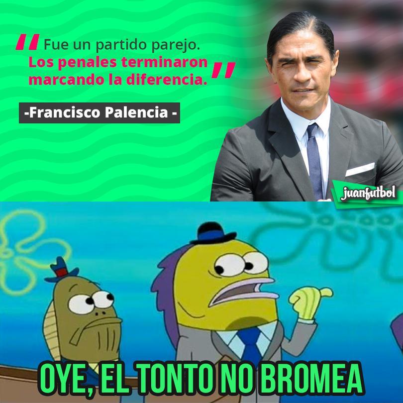Palencia dijo que la diferencia fue el penalti