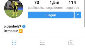Dembelé ya no es del Borussia en Instagram ni Twitter.