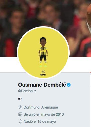 Dembélé ya no es del Dortmund en Twitter.