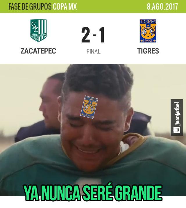 Tigres no pudo contra le Zacatepec