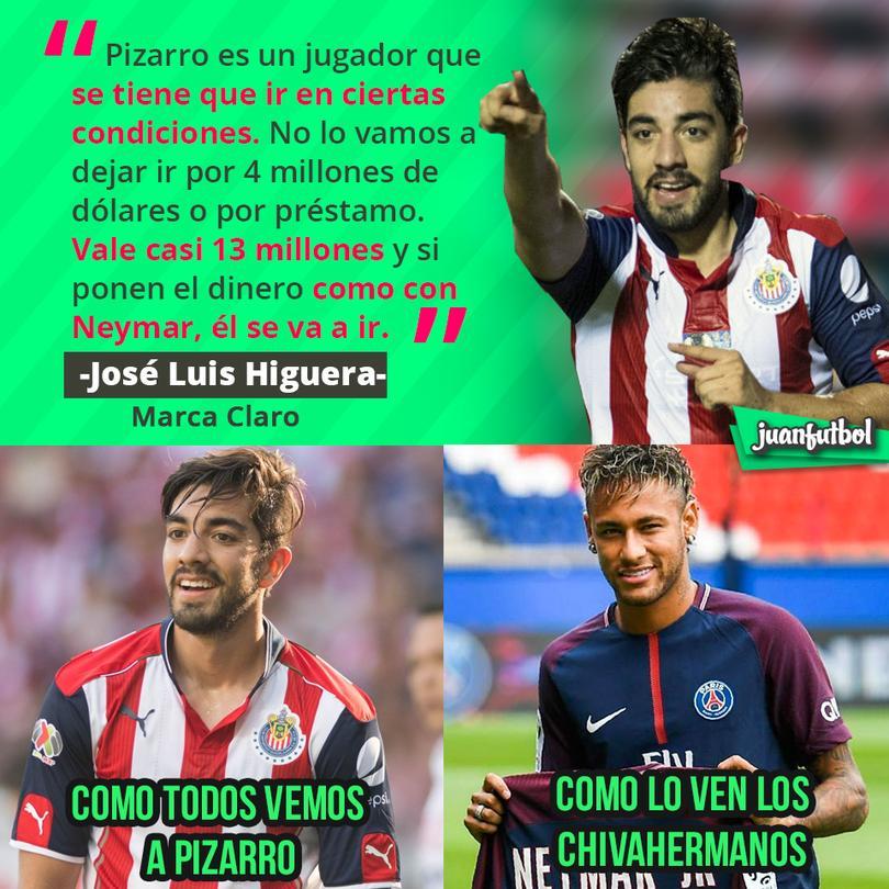 Pizarro se va ir como Neymar