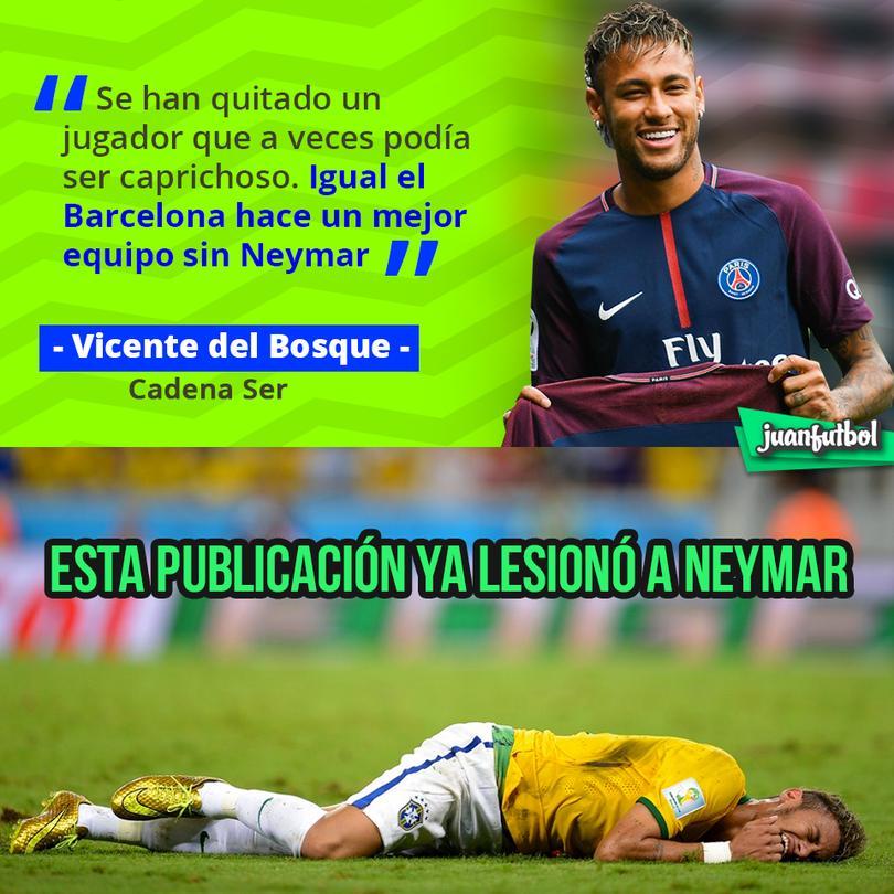 Vicente del Bosque, campeón del mundo con España dijo que el Barça no extrañará a Neymar