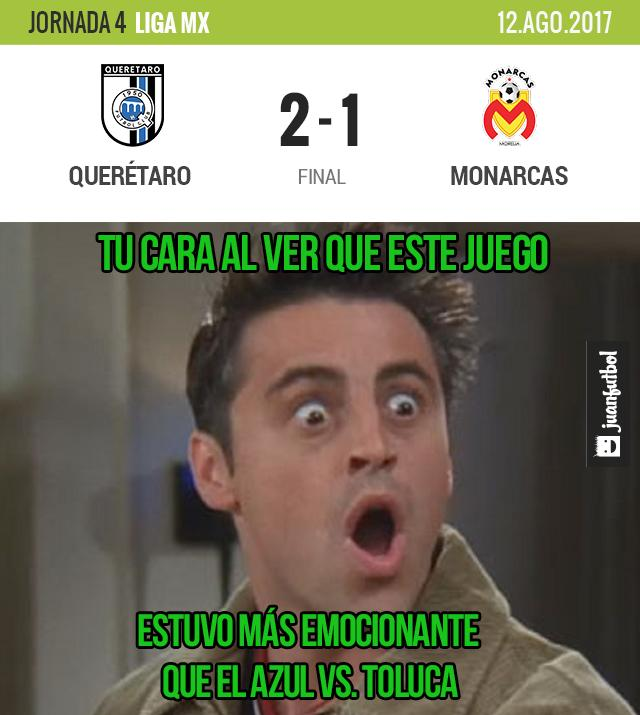 Querétaro dio la vuelta a Monarcas