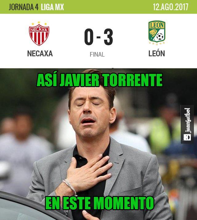 León goleó 3-0 al Necaxa
