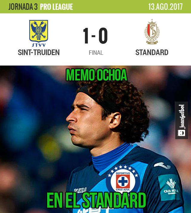 Guillermo Ochoa y el Standard perdieron en los últimos minutos