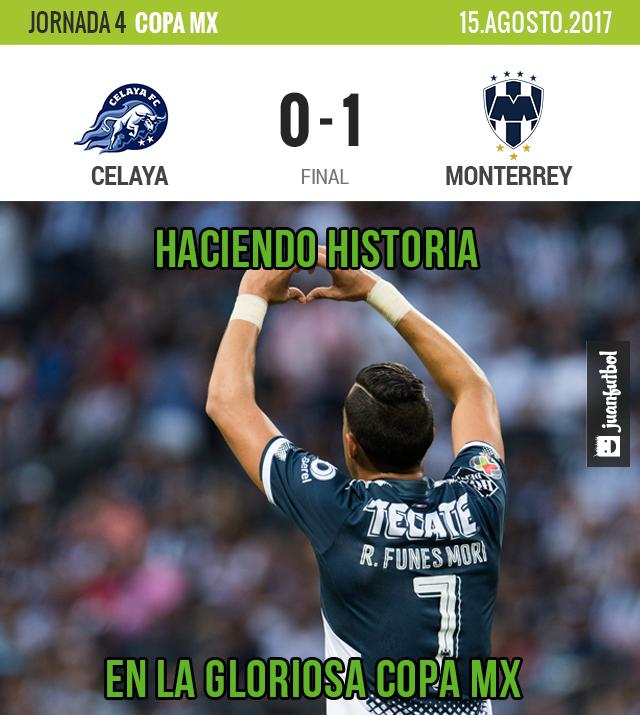 Funes Mori anotó su gol 50 con Monterrey