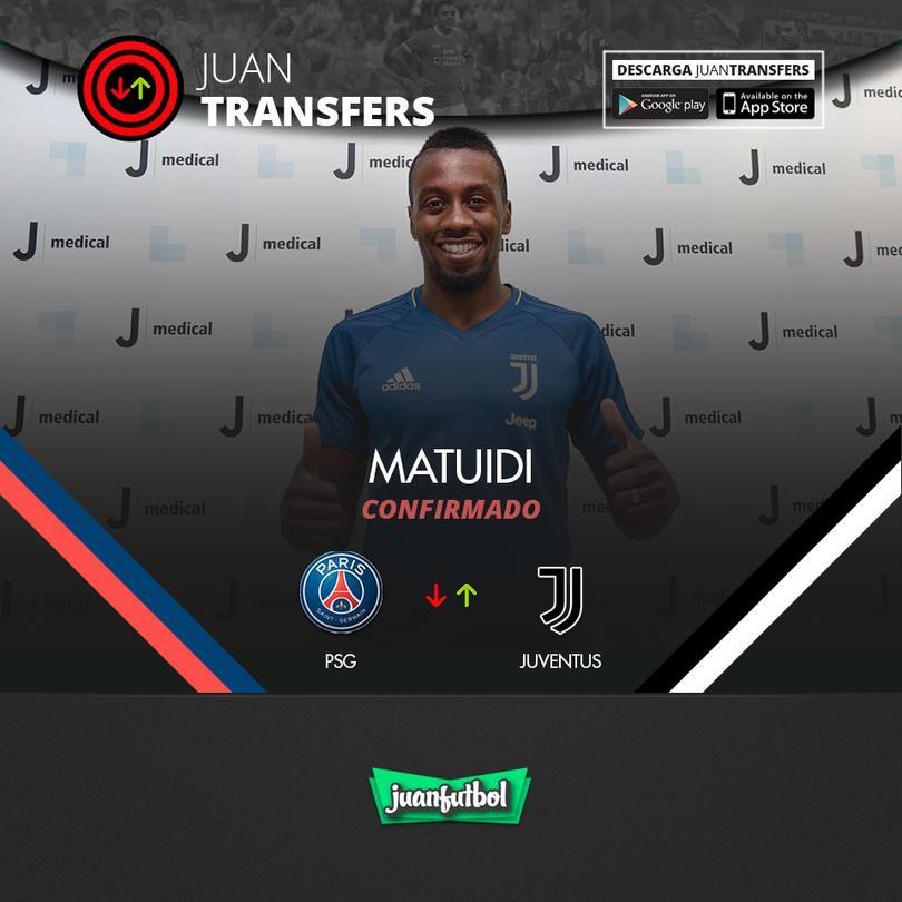 Matuidi ya es de la Juventus