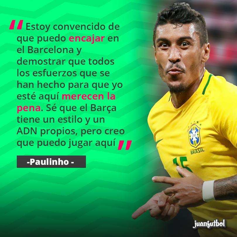 Paulinho sobre su llegada al Barça