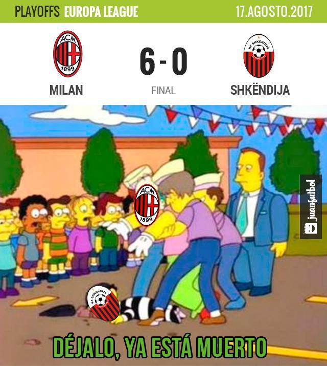 Milán va con todo para entrar a la Europa League