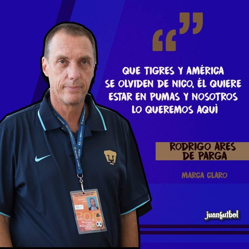 Rodrigo Ares de Parga reiteró que Nico no sale de Universidad