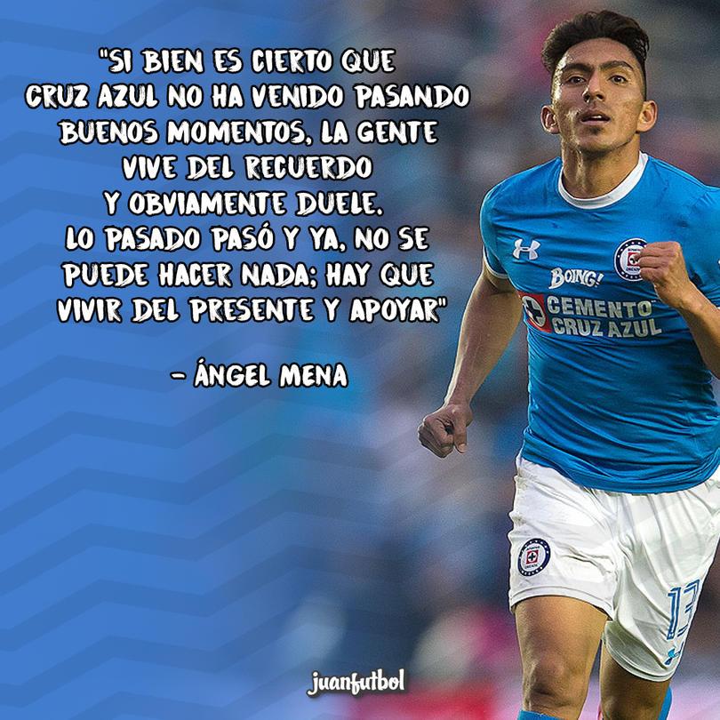 Ángel Mena pide no pensar en el pasado de Cruz Azul