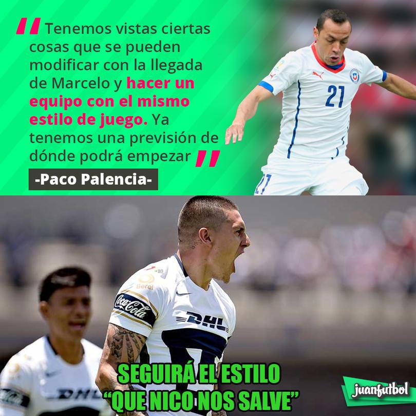 Paco Palencia dijo que ya sabe en dónde pondrá a Díaz para mantener el estilo de Pumas