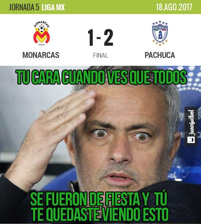 Pachuca le ganó 2-1 a Morelia en el Morelos