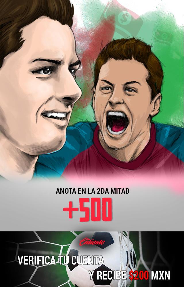 Si crees que Chicharito anotará gol en la 2da mitad contra el Southampton, apuesta en Caliente y llévate mucho dinero.