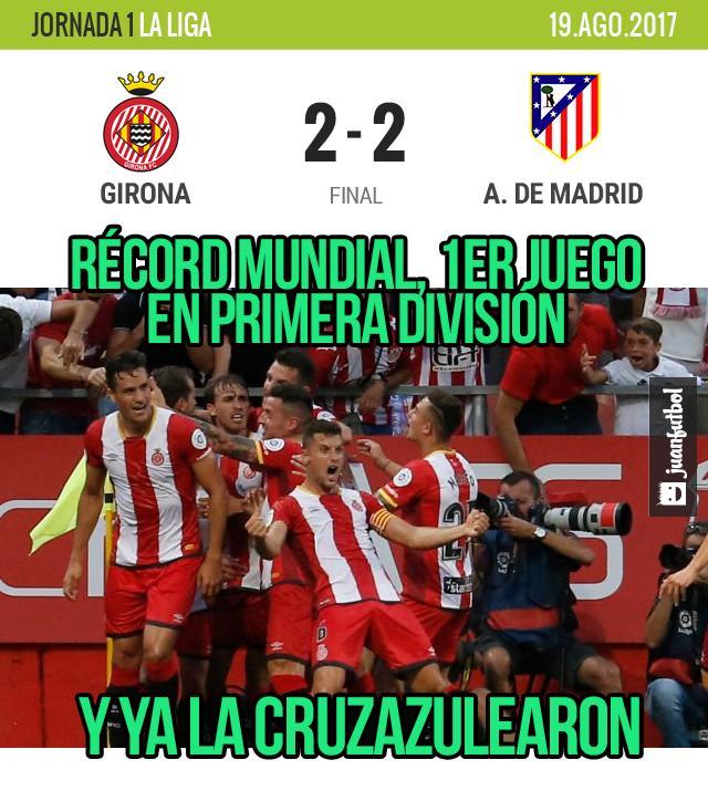 Girona la cuzazulea en su debut