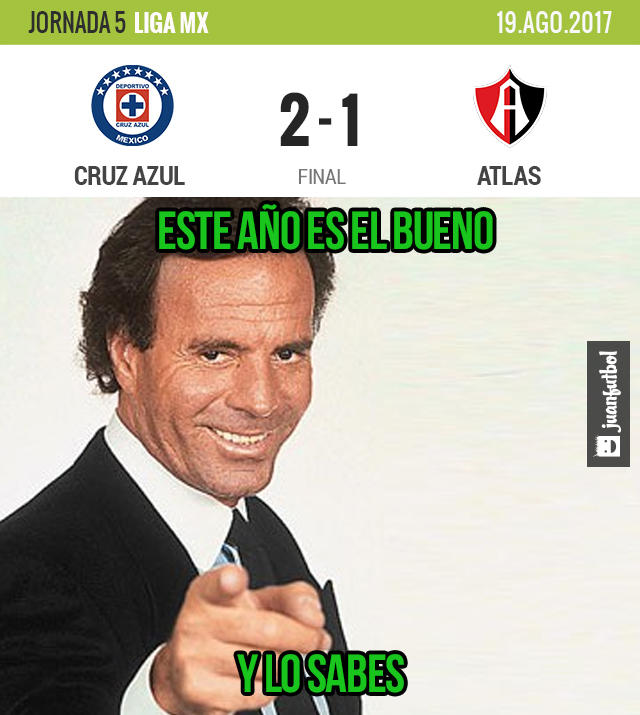 Cruz Azul venció 2-1 al Atlas en el Azul
