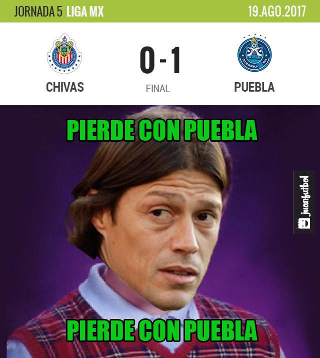 Guadalajara cayó 1-0 con Puebla y está al fondo de la general
