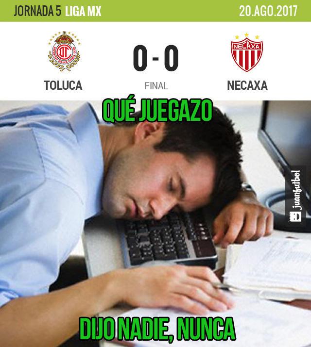 Toluca y Necaxa no se hicieron daño