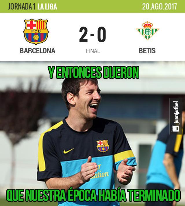 Barcelona ganó al Betis su primer partido de Liga y fue absoluto dominador