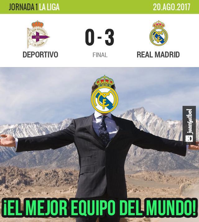 El Madrid le ganó al Deportivo de visita