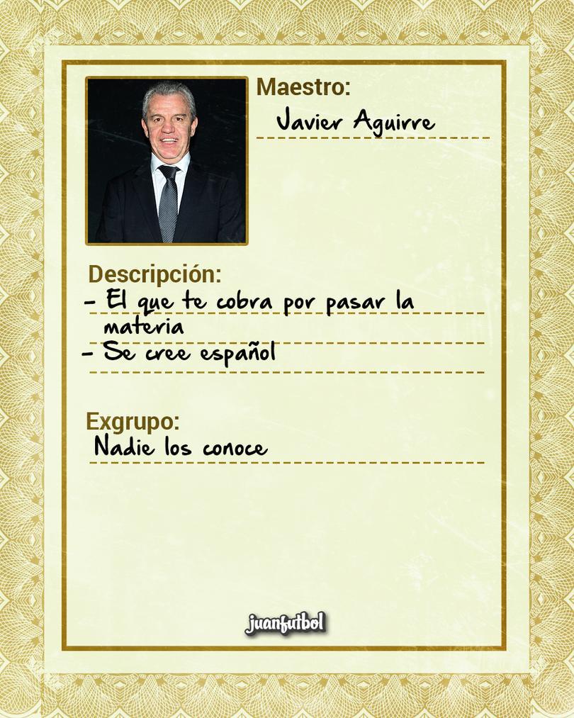 Ficha Maestro de Javier Aguirre