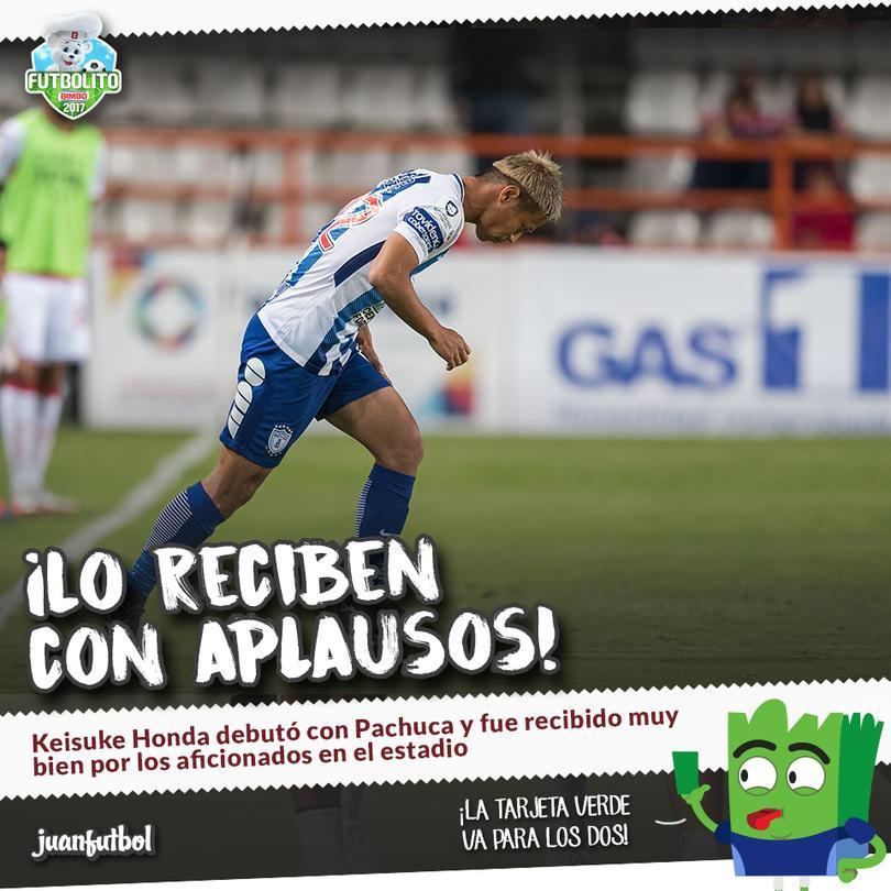 Hoda hizo su debut en el futbol mexicano