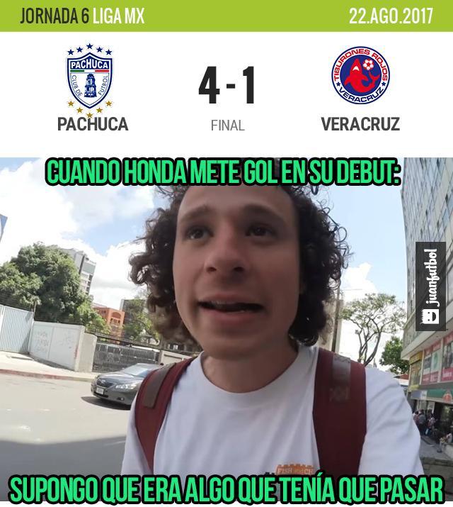 Pachuca goleó a Veracruz