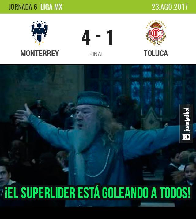 Monterrey goleó