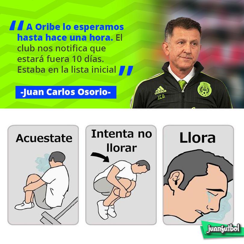 Juan Carlos Osorio dio a conocer que Oribe Peralta estará fuera 10 días