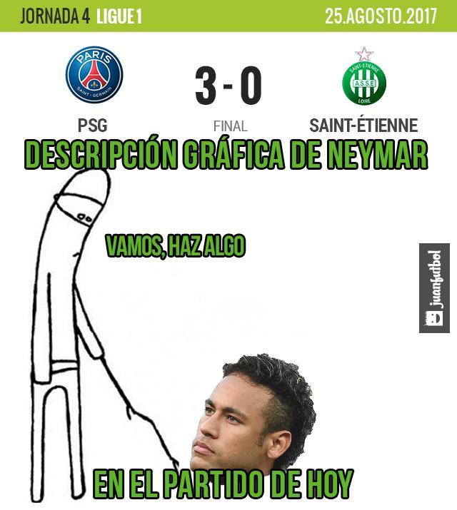PSG gana al Saint Etienne