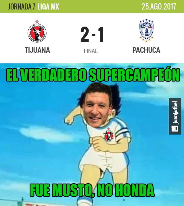 Tijuana le ganó 2-1 a Pachuca en la Frontera