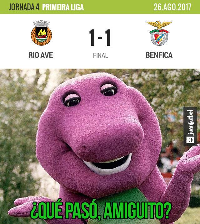Benfica y Rio Ave empataron a uno