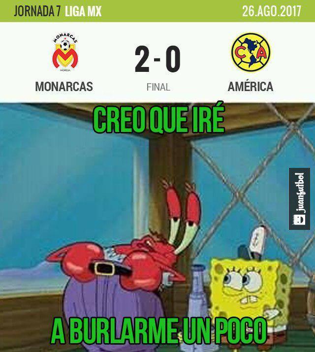 América perdió 2-0 contra Monarcas