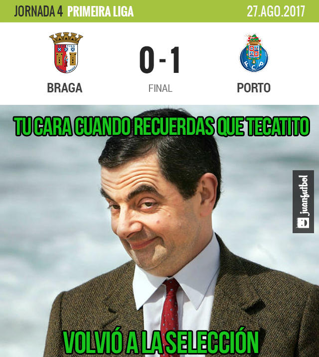 Tecatito anotó el único gol del Porto contra el Braga