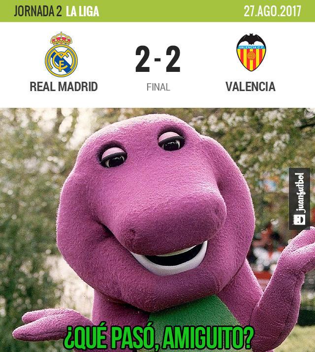 Real Madrid no pudo en casa con el Valencia
